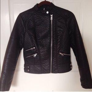 Luxury Faux Leather Biker Jacket